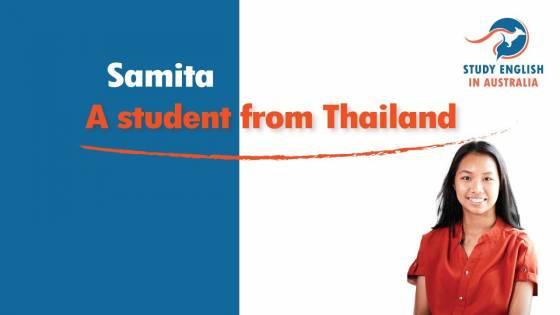 Samita  a student from Thailand in Australia