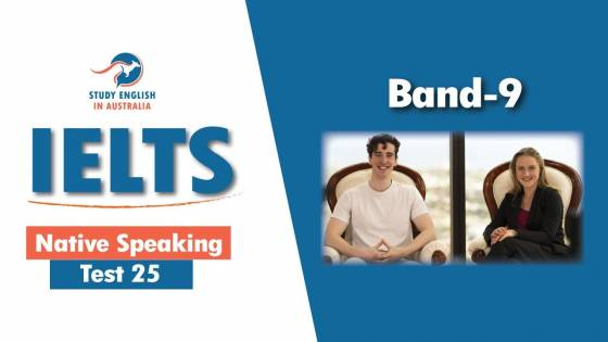 IELTS Native Speaking Test 25 With Extended Part One Sample Questions and Answers